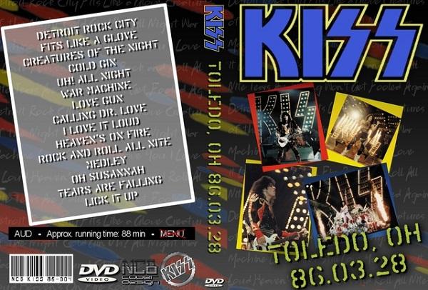 Kiss – Live Toledo,Ohio 1986 DVD