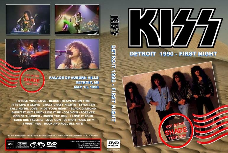 Kiss - Live Detroit, MI 1990 DVD