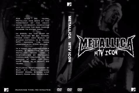 Metallica – Special Mtv Icon 2008 DVD
