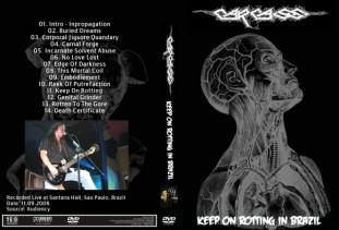 Carcass - Live in Santana Hall, Brazil 2008 DVD