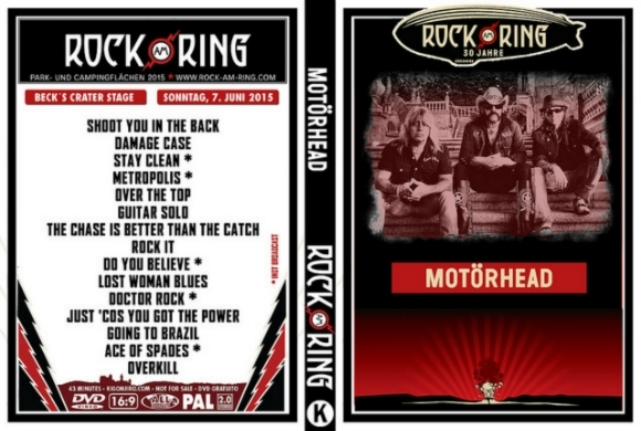 motorhead rock am ring festival 2015 dvd rare rock dvds. Black Bedroom Furniture Sets. Home Design Ideas