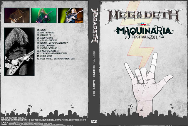 Megadeth – Live  Maquinaria Festival 2011 DVD
