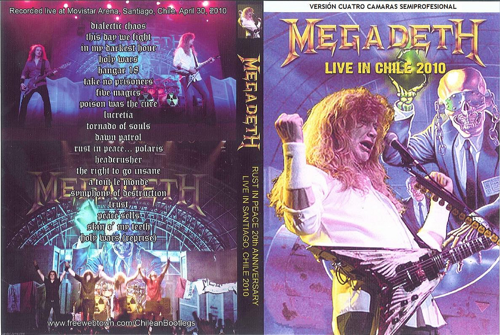 Megadeth – Live in chile 2010 DVD