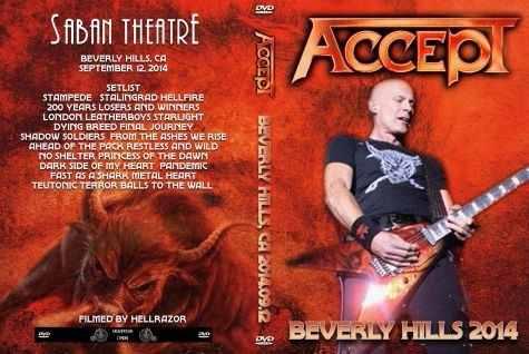 Accept - Live Beverly Hills 2014 DVD