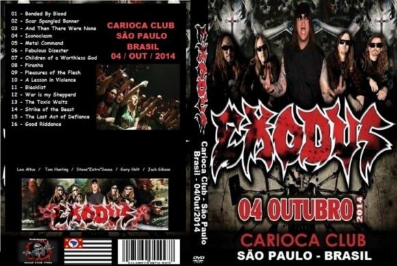 Exodus – Live Carioca Club,Sao Paulo,Brasil 2014 DVD