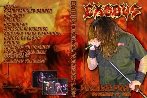 Exodus – Electric Factory,Philadelphia,USA 2004 DVD