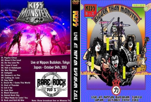 kiss live in japan 2013 dvd rare rock dvds