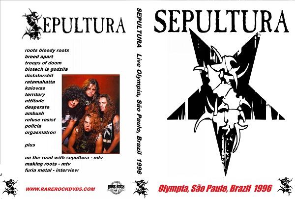 Sepultura - Live Olympia, SP, Brazil 1996 DVD