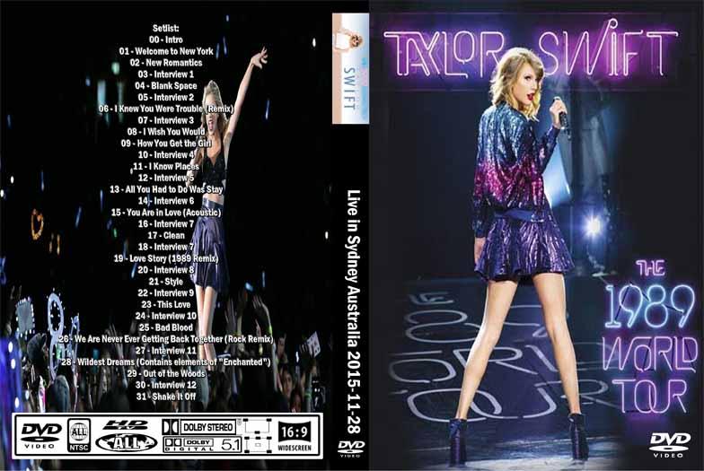 Taylor Swift - Live in Sydney Australia 2015 DVD