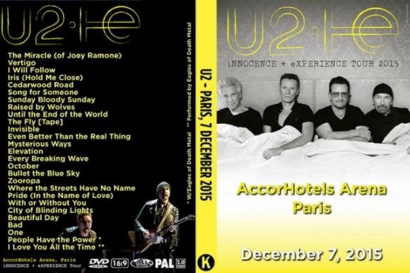 U2 - Live Paris France 2016 DVD
