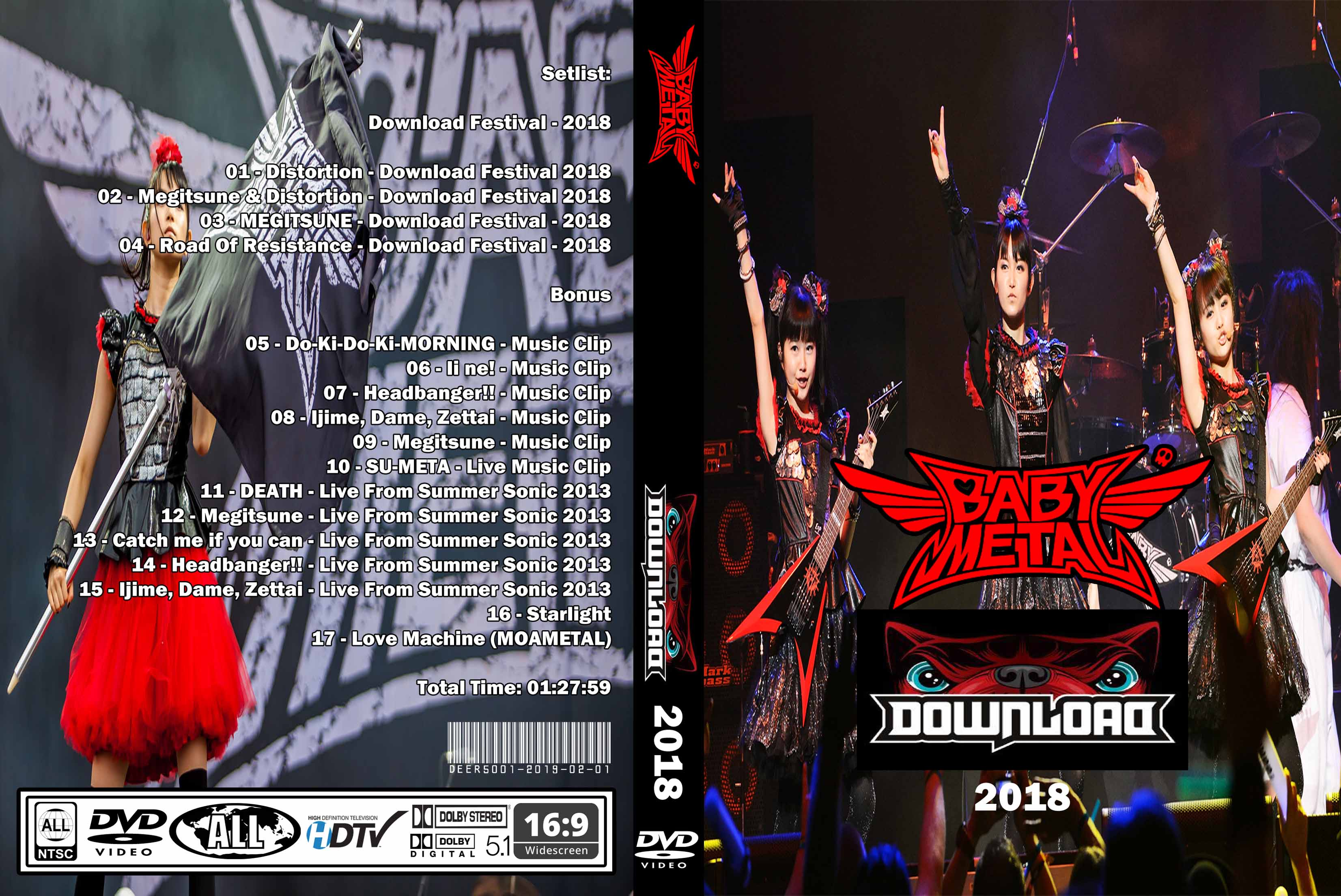 BabyMetal - Live Download Festival 2018 DVD