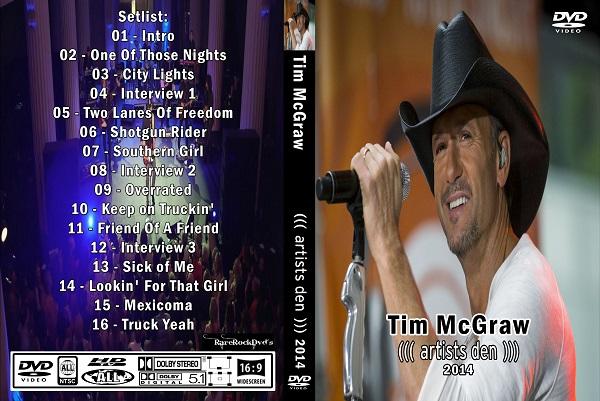 Tim McGraw – Live Artists Den 2014 DVD