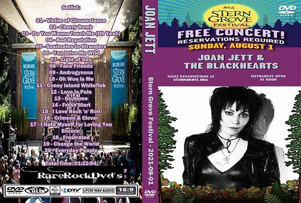 Joan Jett - Stern Grove Festival 2021 DVD - Rare Rock Dvds
